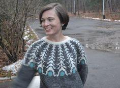 "PDF Knitting Pattern Lopapeysa Women's Sweater "" PAVLIN TALE"" 100% Icelandic Lett Lopi Wool"