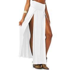 Women's Skirts - Side Slit Long Skirt