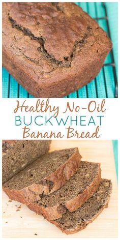 This healthy banana bread recipe is made with no oil, buckwheat flour, and low-sugar yogurt. You'll love starting your day with this wholesome and easy recipe!