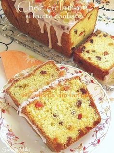 Culorile din farfurie: Lemon cake with candied fruit Dessert Cake Recipes, No Cook Desserts, Tart Recipes, Cooking Recipes, Fruit Bread, Egg Tart, Romanian Food, Pastry And Bakery, Food Cakes