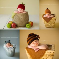 Adorable knit hats for photo shoots