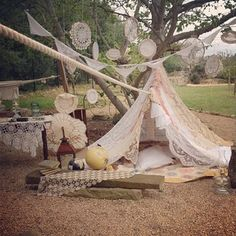 Lace and crochet tent made for photo shoot #milkandhoneyfarm