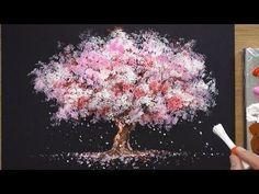 How To Draw A Cherry Tree In Acrylic - Sakura Q-tip Pai .- So zeichnen Sie einen Kirschbaum in Acryl – Sakura Q-tip Painting Techniques – Y… How To Draw A Cherry Tree In Acrylic – Sakura Q-tip Painting Techniques – YouTu … - Sakura Painting, Cherry Blossom Painting, Cherry Blossom Tree, Blossom Trees, Cherry Tree, Cherry Cherry, Blossoms, Q Tip Painting, Acrylic Painting Techniques