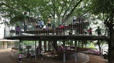 """ianbrooks: """" Ring Around The Tree by tezuka architects This treehouse-like structure is part of Fuji Kindergarten in Tachikawa, Tokyo, Japan and serves as both an outdoor classroom and playground for. Sustainable Architecture, Sustainable Design, Landscape Architecture, Landscape Design, Contemporary Architecture, Pavilion Architecture, Green Architecture, Residential Architecture, Playground Design"""