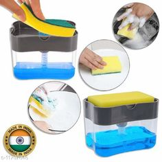 Soap Dispensers INFO TECH 2 in 1 Soap Pump Plastic Dispenser for Dishwasher Liquid  Material: Plastic Pack: Pack of 1 Country of Origin: India Sizes Available: Free Size   Catalog Rating: ★3.9 (1050)  Catalog Name: Classic Soap Dispensers CatalogID_2213803 C132-SC1588 Code: 712-11707846-303