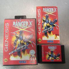 Ranger X (Sega Genesis, 1993) Manual, Case, Game