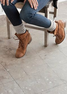 4c79c88a086 Image result for how to wear lace up boots with skinny jeans | Wish ...