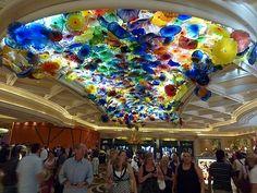 Glass Art in Caesars Palace.