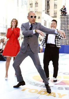 Psy teaches Matt Lauer the Arrogant Dance on Today Show