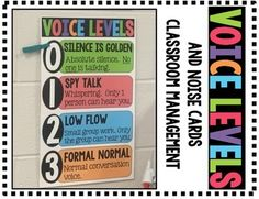 Includes:-Voice Level Chart-NOISE Cards-How to Use
