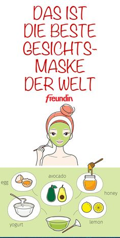Making a face mask with avocado itself: That& how it works- Gesichtsmaske mit Avocado selbst machen: So geht's You have dry and blemished skin? This is over with this homemade avocado face mask. We will show you how to prepare the mask in a few minutes - Beauty Care, Beauty Skin, Beauty Hacks, Beauty Tips, Diy Beauty, Beauty Products, Homemade Beauty, Beauty Ideas, Face Beauty