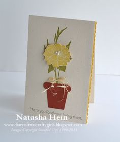 Diary of Two Crafty Girls: Fabulous Florets Flower Pot Card