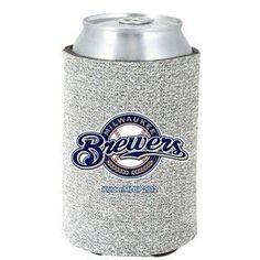 Milwaukee Brewers MLB Glitter Can Holder Cooler
