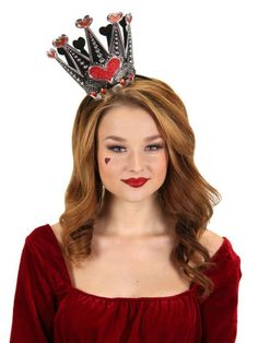 Queen of Hearts Sparkle Crown Headband