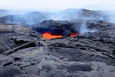 Pele, the goddess of fire and volcanoes, has worked her magic on the state's largest island. Here's how to see the lava -- safely. Adventurous Honeymoon Destinations, Hawaii Volcano, Lava Flow, Family Road Trips, Deep Sea, Mount Everest, Island, Adventure, Mountains