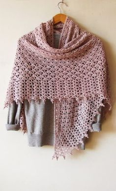 Baked Milk Shawl PDF Crochet Pattern by ShaggyNest on Etsy
