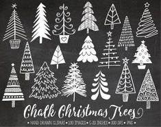 White doodle winter clipart for gift tags, DIY greeting cards. White doodle winter clipart for gift tags, DIY greeting cards. Chalkboard Lettering, Chalkboard Designs, Chalkboard Ideas, Chalkboard Drawings, Christmas Tree Clipart, Christmas Crafts, Christmas Decorations, Christmas Trees, Chalkboard Art