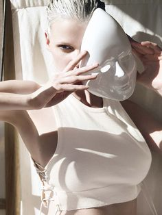 Lara Stone photographed by Mario Testino in Tuscany for Vogue, January 2011.