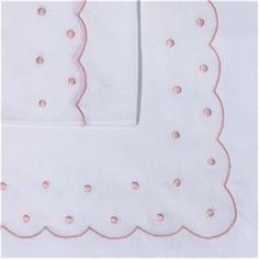 Sabanita  BODOQUES bordado en rosa