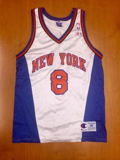 Vintage 1998 Latrell Sprewell New York Knicks Champion Jersey Size 40 hat  shirt charles oakley nba finals penny hardaway alabama tide smith 2e7bccf64