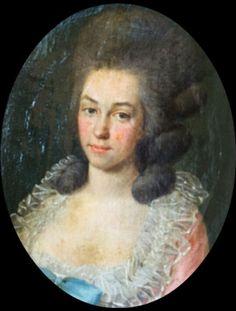 Portrait de Marie Thérèse de Savoie Carignan, princesse de Lamballe, artiste inconnu de la fin du XVIIIe siècle