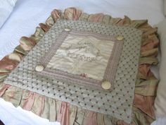 TAPESTRY French Chateau 36 SQUARE Pillow Sham by VintageVivant, $79.00