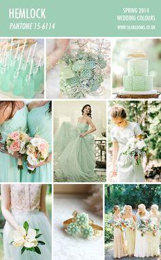 hemlock pantone spring 2014 wedding mood board #pantonespring2014 #pantonecolor #followus #designlit #belitup #pantone #hemlock #green #spring #2k14 #color