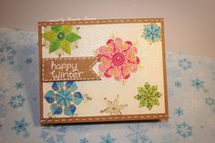Snowflake Holiday card by Kamilla | Beautiful Blizzard stamp set by Newton's Nook Designs #newtonsnook
