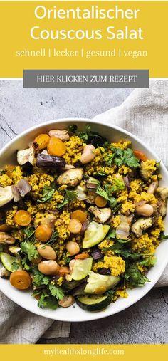 Salate sind langweilig? Dieser Couscous Salat nicht – er ist eine wahre Geschmacksexplosion! #vegan #couscous #salat #couscoussalat #veganersalat #vegankochen #veganmittagessen #mittagessen #mealprep #cleaneating #leckeressen #gesundkochen #gesunderezepte Vegan Gluten Free, Gluten Free Recipes, Recipe Maker, Good Food, Yummy Food, Winter Salad, Kinds Of Salad, Fabulous Foods, Salad Recipes