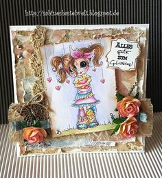 Reminder card My Besties Germany challenge anything goes with My Besties option hearts or birthday by DT Sabine