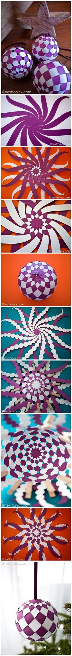 Ideas for diy paper ornaments origami ball Origami And Kirigami, Origami Paper, Diy Paper, Paper Art, Paper Crafts, Origami Ball, Oragami, Diy Origami, Crafts To Do