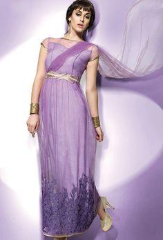 Purple Designer Suit - Desi Royale