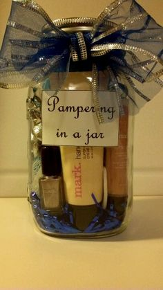 Cute idea and use Mary Kay products! Give a gift and promote my business too !