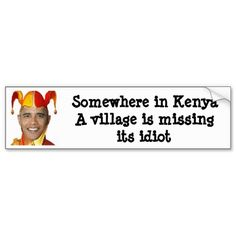 Shop Somewhere in Kenya a village is missing its. Bumper Sticker created by Personalize it with photos & text or purchase as is!