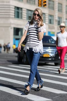 The Most Authentically Inspiring Street Style From New York #refinery29  http://www.refinery29.com/2015/09/93788/ny-fashion-week-spring-2016-street-style-pictures#slide-2  Talk about a fringe hem....
