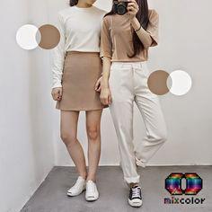Korean Street Fashion - Life Is Fun Silo Korean Girl Fashion, Korean Street Fashion, Ulzzang Fashion, Korea Fashion, Kpop Fashion, Japanese Fashion, Cute Fashion, Asian Fashion, Daily Fashion