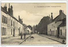 Carte Postale Ancienne Villeneuve sur Yonne - Faubourg Saint Savinien
