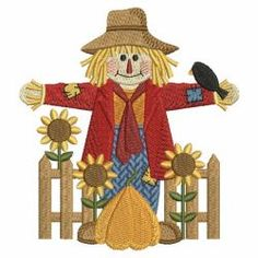 Scarecrow 09 machine embroidery designs