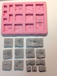 """Custom Terrain Mold Sci-fi, Fantasy, Dwarven Forge Compatible 1"""" x 1"""" Ground 04   Seller name is 4bot  Kits going for $25 - 30 each."""