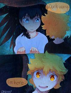Hinata comforting Kags! Part 1!