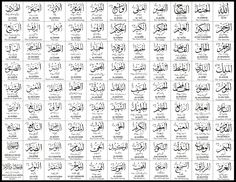 Asmaul Husna (99 Names Of Allah) White by digitalinkcs on DeviantArt