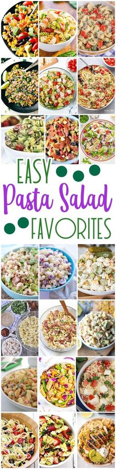 Easy Pasta Salad Recipes - The BEST Yummy Barbecue Side Dishes, Potluck Favorites and Summer Dinner Party Crowd Pleasers-