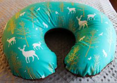 Modern Chic Boppy Pillow Cover Designer Fabric  by RoseyBabyCheeks