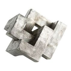 Create a modern statement with this knot sculpture cast in aluminum then antiqued to highlight the surface texture. We love this piece displayed on a surface and at a height that allows it to be viewed from all directions. The large scale makes it a focal point; treat it like a work of art.