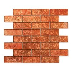 "Each sheet includes 8 rows of 3 tiles      Sheet size: 11.75"" x 12""     Tile Size: 4"" x 1.5""     Style: Interlocking Tiles     Tile thickness: 1/4""     Grout joints: 1/8""     Finish: Polished Colored Glass     Important Information:During manufacturing, color is bonded to the back of the glass tiles. As a result, color may vary. Tiles should not be installed in areas exposed to direct sunlight,shower & water applications as color will change.     Sold by the sheet"