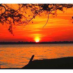 Sunset at Cedar Creek Lake, Tx - Grew up on Cedar Creek