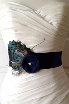 Navy Blue  Bridal Sash Navy Blue Wedding Belt Navy by BridalShoppe