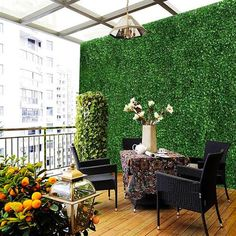 Artificial Hedges, Artificial Boxwood, Wall Backdrops, Backdrop Decorations, Outdoor Walls, Indoor Outdoor, Outdoor Decor, Brick Wall Decor, Evergreen Hedge