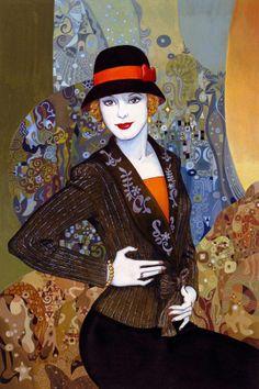 Helen Lam   Chino-Canadiense NACIDO pintor Art Déco