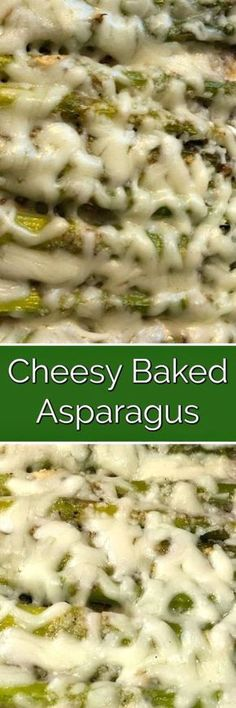 Cheesy Baked Asparagus - A blend of cheeses and spices give this delicious baked asparagus its perfectly delicious flavor! #cheesy #baked #asparagus #easy #delicious